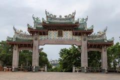 马祖寺庙曲拱 免版税库存照片