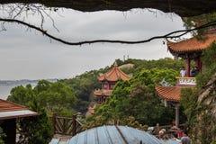 马祖寺庙曲拱 免版税图库摄影