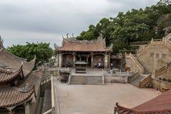 马祖寺庙曲拱 库存照片