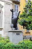 马纪念碑在Brera,米兰 免版税库存照片