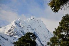 马纳斯卢峰山脉的轻率冒险 免版税库存照片