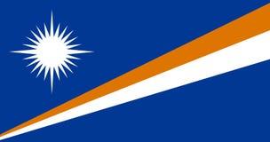 马绍尔群岛国旗  与马绍尔群岛旗子的背景  库存例证