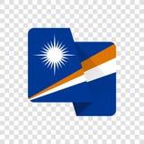 马绍尔群岛-国旗 向量例证