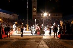 马罗斯蒂卡, VI,意大利- 2016年9月9日:在期间的大广场 图库摄影