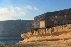 马耳他。 Gozo。 老堡垒 免版税图库摄影
