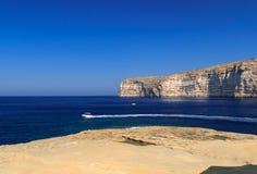 马耳他。 Gozo。 Xlendi的海湾 免版税图库摄影