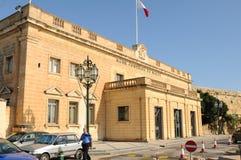马耳他中央银行在瓦莱塔 免版税库存照片