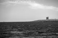马耳他海景黑白的 免版税库存图片