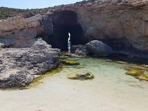 马耳他科米诺岛 库存照片