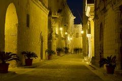 马耳他老街道 免版税库存图片