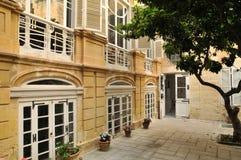 马耳他,美丽如画的市瓦莱塔 库存照片