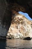 马耳他,蓝色洞穴美丽如画的站点  免版税库存图片