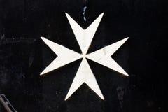 马耳他十字形。 库存图片