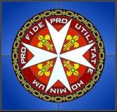 马耳他十字形 免版税库存图片