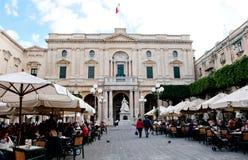 马耳他国立图书馆  免版税库存照片