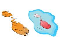 马耳他地图 免版税库存照片