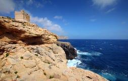 马耳他-岩石海岸 免版税库存照片