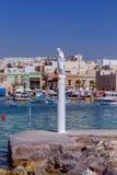 马耳他 海滩的圣徒监护人在Marsaxlokk村庄  图库摄影