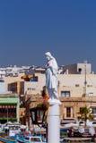 马耳他 海滩的圣徒监护人在Marsaxlokk村庄  免版税库存照片