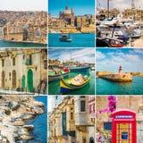马耳他美丽的景色  免版税库存照片