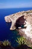 马耳他蓝色盐水湖  库存图片
