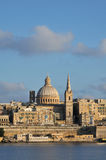马耳他,美丽如画的市瓦莱塔 图库摄影