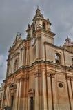 马耳他, mdina美丽如画的大教堂  免版税库存照片