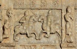 马背两个骑士战斗 免版税库存照片