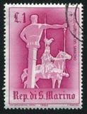 马背射击的圣马力诺 库存图片