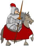 马背射击的骑士 图库摄影