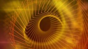 马莎1080p抽象金黄线录影背景圈 向量例证