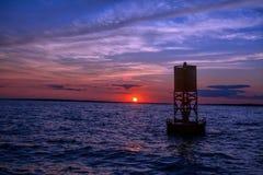 马萨葡萄园岛日落 免版税图库摄影