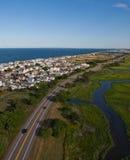 马萨诸塞海岸鸟瞰图  免版税库存图片