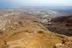 马萨达在以色列 库存照片