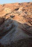 从马萨达堡垒的罗马围困舷梯 图库摄影