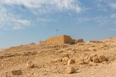 马萨达堡垒,国立公园,犹太,约旦河西岸,以色列 免版税库存照片