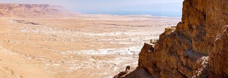 马萨达废墟 库存照片