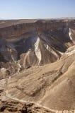 从马萨达的沙漠风景 免版税库存图片