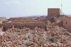 马萨达设防废墟-以色列 免版税库存照片