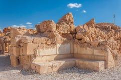 马萨达,古老设防在以色列的南区 库存照片
