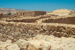 马萨达-古老堡垒 图库摄影