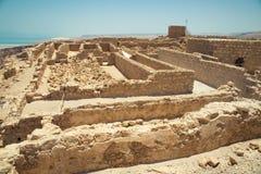 马萨达-古老堡垒 免版税图库摄影