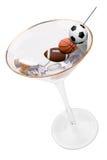 马蒂尼鸡尾酒橄榄体育运动 免版税库存照片