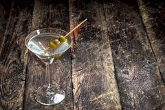 马蒂尼鸡尾酒橄榄 库存图片