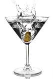 马蒂尼鸡尾酒橄榄 库存照片