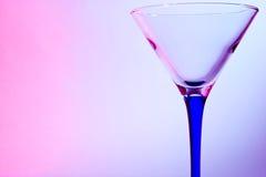 马蒂尼鸡尾酒的玻璃 图库摄影