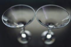 马蒂尼鸡尾酒的玻璃 免版税库存照片