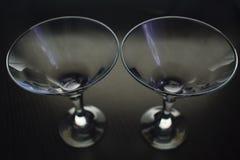 马蒂尼鸡尾酒的玻璃 免版税库存图片
