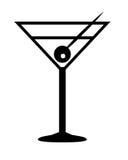马蒂尼鸡尾酒饮料符号 免版税库存照片