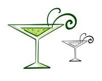 马蒂尼鸡尾酒玻璃例证 库存图片
